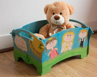 Toy box decorated for child's room