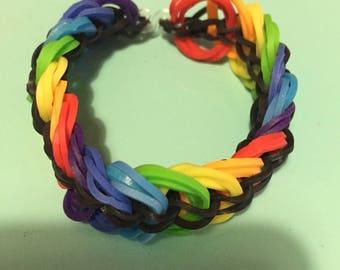 Rainbow Loom Rainbow chain link bracelet