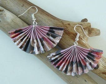 Japanese black and pink earrings