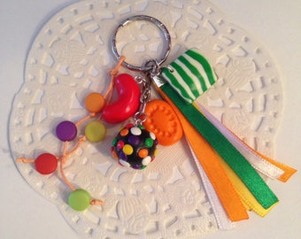 "Polymer clay ""candy Candy"" keychain"