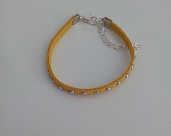 Yellow studded bracelet