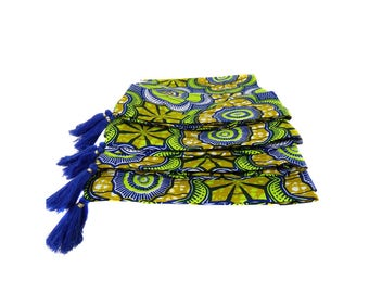 Four African cushion covers