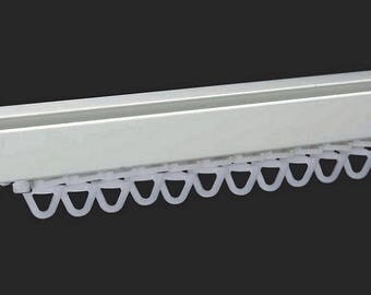 Rail curtain - Cap - white finish fixings - 145 cm square