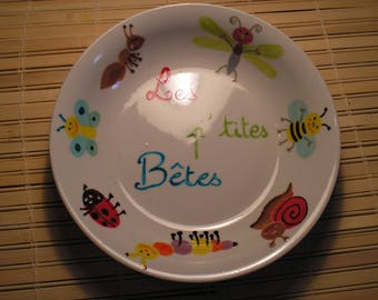 'Little beast' painted porcelain plate