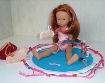 Pouch-bathtub for doll Corolla honey