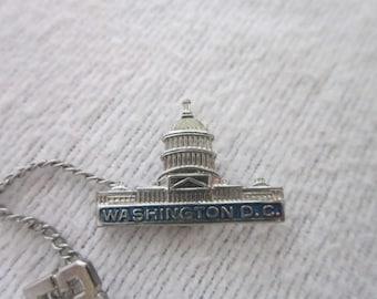 1953 Washington D C Capital Building Souvenir Pinback