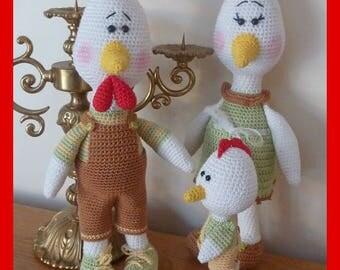 Hen, crochet, Amigurumi plush