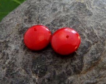 2 beads about 10mm bamboo coral red starfish ideal for creating