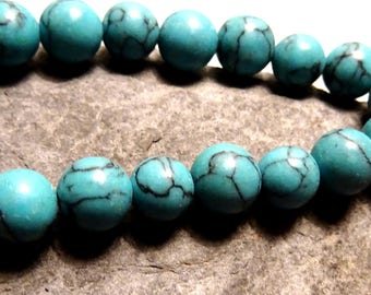 turquoise howlite beads 8mm 10 ideal for creating