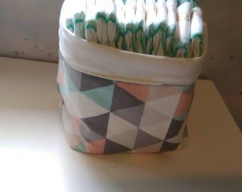 Storage basket fabric bin