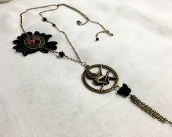 "Vintage style necklace inspired by ""Hunger Games"""