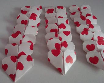 Set of origami hearts: Love Collection