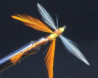 Dragon fly orange and yellow body