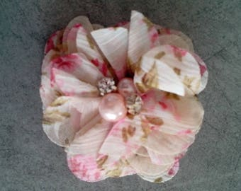 Pretty pink liberty fabric flower