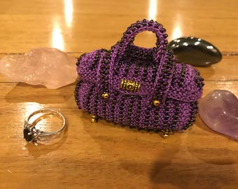 Chesta Beaded Purse. Tooth Fairy Pouch. Crystal or Jewellery Pouch