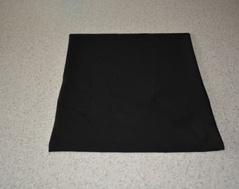 HANDMADE BLACK 40 X 40 PILLOW COVER
