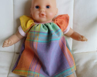 infants dress for 30 cm color madras baby clothes