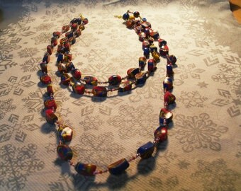 beautiful trendy, stylish, original necklace, summer (Navy, pink, yellow and Brown)