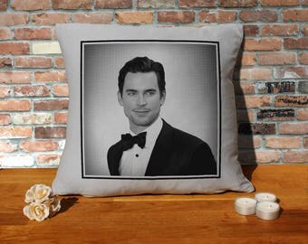 Matt Bomer Pillow Cushion - 16x16in - Grey