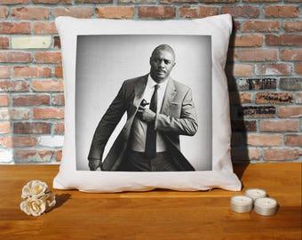 Idris Elba Pillow Cushion - 16x16in - White