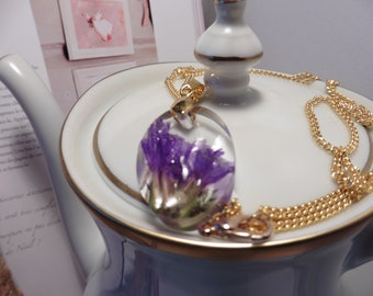 "Unique jewel ""Epoxy resin, dried flowers"""