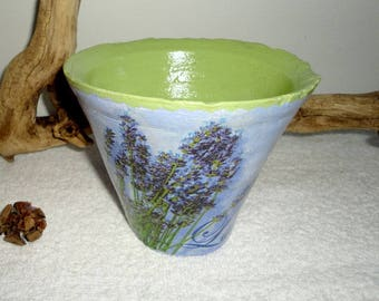 "Pine from the Landes pot authentic Terra cotta ""lavender"""