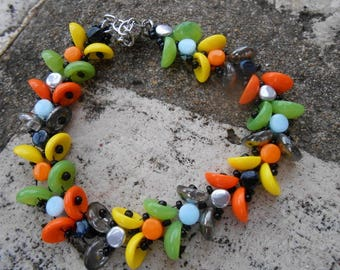 "Pearls bracelet multicolored ""Paloma"""