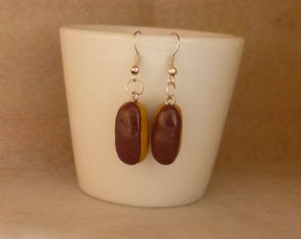Earrings light chocolate
