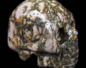 40mm Crystal Skull - rhodonite