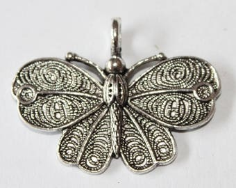 Butterfly pendant, 42 * 32 mm, set of 2