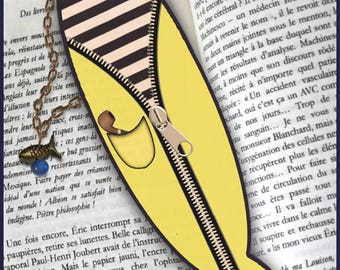 "Plastified bookmark ""little sailor"""