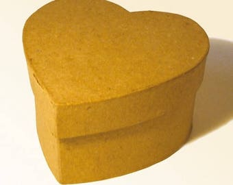 "2 mini boxes heart ""beige"""