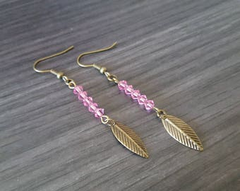 Rose leaf earring