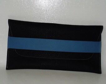 Simple but elegant Buffalo soft blue clutch.