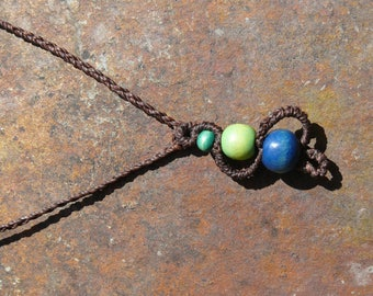 Wooden beads and macrame