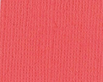 Bazzill textured canvas 30 x 30 cm - Ref 11110131 Flamingo scrapbooking paper