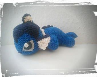 Plush Aqua crochet small blanket