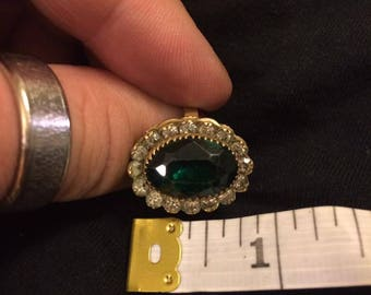 Antique Emerald Crystal Ring
