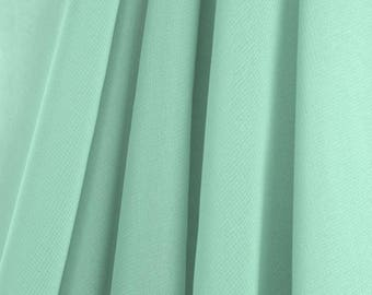 "60"" Wide - High Quality 100% Polyester Chiffon Sheer Fabric - MINT GREEN"