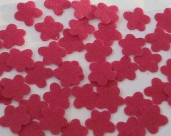 SET OF 30 FLOWERS FELT STICKERS SCRAPBOOKING EMBELLISHMENTS