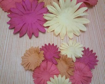 A - 001 * SET OF 13 EMBELLISHMENTS SCRAPBOOKING PAPER FLOWERS