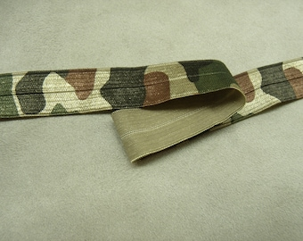 Ribbon elastic military camouflage