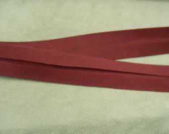 BIAS tape - 20 mm inside 10-10 mm - cotton - Burgundy