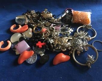 Destash lot of Earrings & Beads