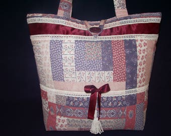 Patchwork style tote bag