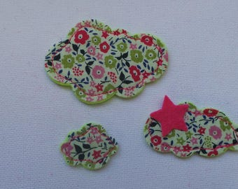 Embellishments clouds fabric and felt for scrapbooking or sewing
