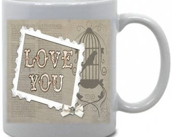 "Personalized mug theme ""Love you"""