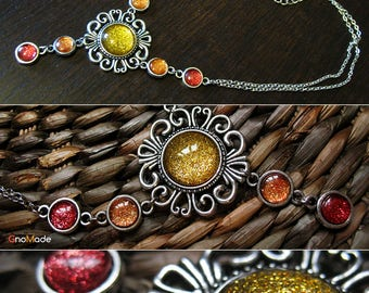 40/45 cm necklace with cabochon