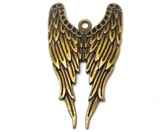 Bronze Angel Wings charm