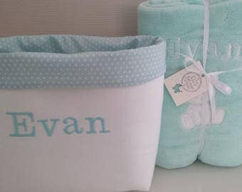 fabric basket personalized storage toilet baby